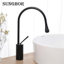 Modern Basin Faucets Black Sink Mixer Taps Kitchen Bathroom Taps Single Handle Faucet Hot Cold Mixer Tap Crane AL-2721H цены