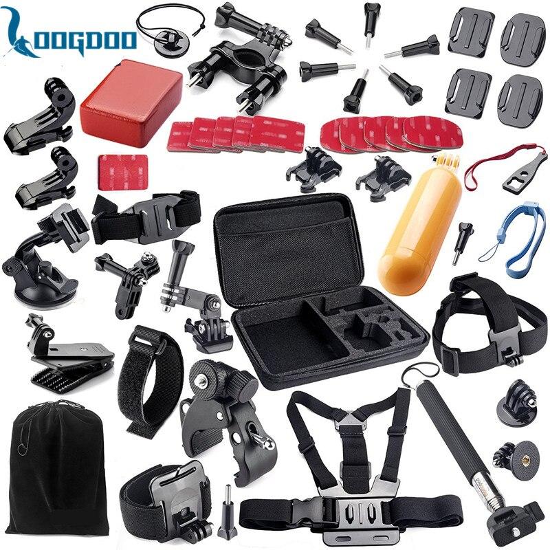 Acessórios Gopro Definir Capacete Cabeça Strap Mount Harness Belt Peito Monopé para go pro herói 4 3 + câmera de ação de 2 xiaomi yi gs02