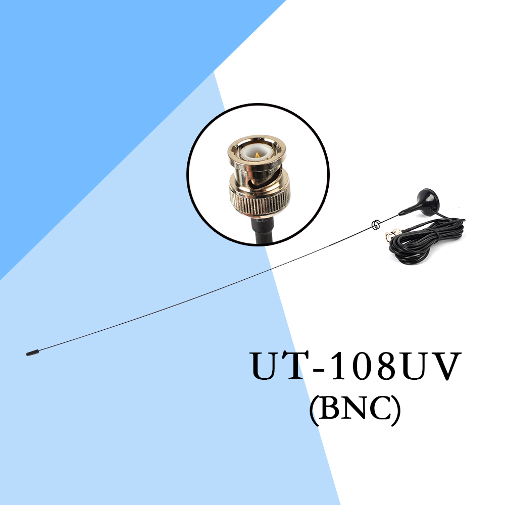 2PCS HYS UT-108UV BNC Walkie Talkie Antenna 144/430MHz VHF/UHF Magnetic Base Car Mobile Antenna for CB Radio Two Way Radio