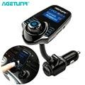 AGETUNR Bluetooth Car Kit Vivavoce Trasmettitore FM MP3 Giocatore Di Musica 5V 2.1A USB Caricabatteria Da Auto Supporto Micro SD Carta Di 4G-32G
