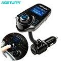 AGETUNR Bluetooth Kit de coche manos libres transmisor FM MP3 reproductor de música 5 V 2.1A cargador de coche USB soporte Micro SD tarjeta de 4G-32G