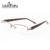 Laura Fadas Strass Moda Metade Quadro Óculos Sem Aro Elegante Dobradiça Flexível Mulheres Optical Óculos para Visão