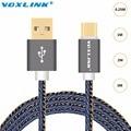 VOXLINK Tipo-c USB Chapado En Oro USB C Tipo C Cable de Datos Del Cargador USB cable para macbook oneplus 2 3 nexus 6 p/5x lg g5 xiao mi 4C