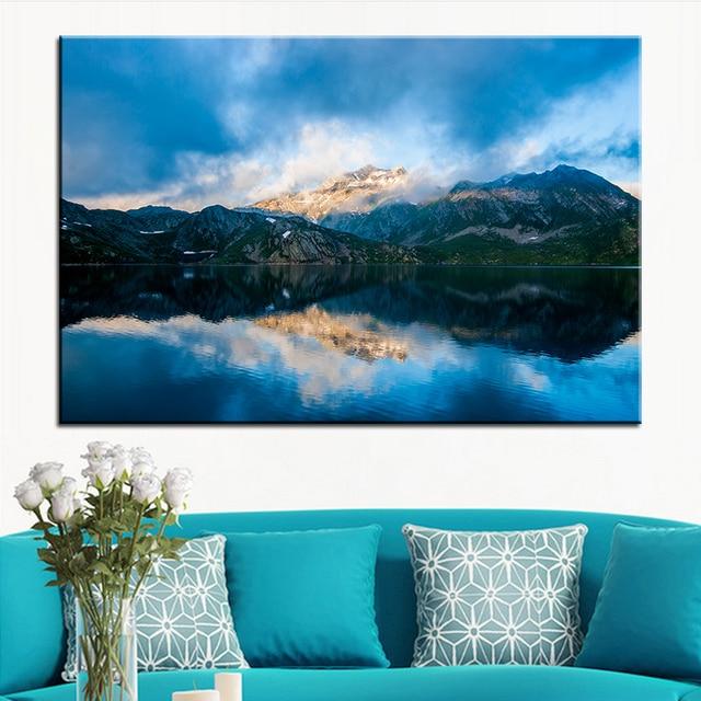 Gut Große Größe Druck Ölgemälde Berge Natur See Wandmalerei Decor Wandkunst  Bild Für Wohnzimmer Malerei Kein Rahmen