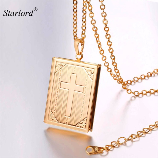 en locket filled lockets cross ip heart chain gold on