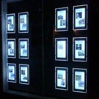 (Opakowanie/5 jednostek) A3 dwustronny wyświetlacz kablowy podświetlane systemy wiszące  systemy wiszące Art & Gallery Led witryna detaliczna w Oświetlenie reklamowe od Lampy i oświetlenie na