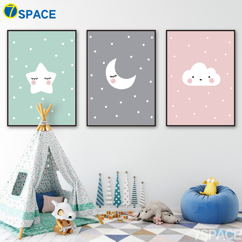 Aliexpress Buy 7 Space Nordic Poster Cartoon Wall