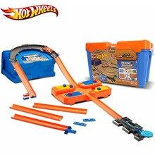Hot Wheels автомобили 3 трек набор Многофункциональный автомобиль Carros Brinquedos Diecast Hotwheels детские игрушки для детей подарок на день рождения oyunca