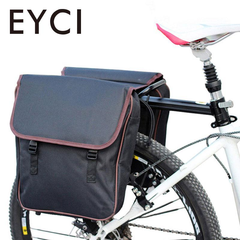 EYCI Bike Bags MTB Mountain Bike Rack Bag Multifunction Road Bicycle Pannier Rear Seat Trunk Bag car styling head lamp for fit jazz headlights led drl daytime running light bi xenon lens hid accessories fit headlight