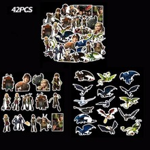 Hot 42pcs/set How to Train Your Dragon Sticker Cute White Fury Black F