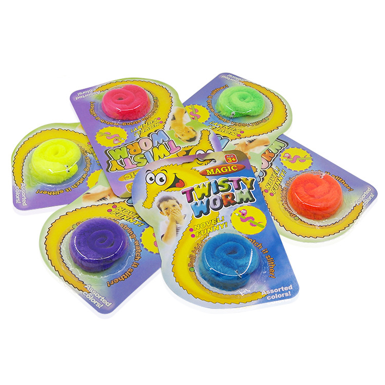 12pcs Magic Worm Squirmles Slideyz Wiggles Twisty Worm (6 Colors Mix) Magic Tricks Close Up Street Comedy Toys For Children