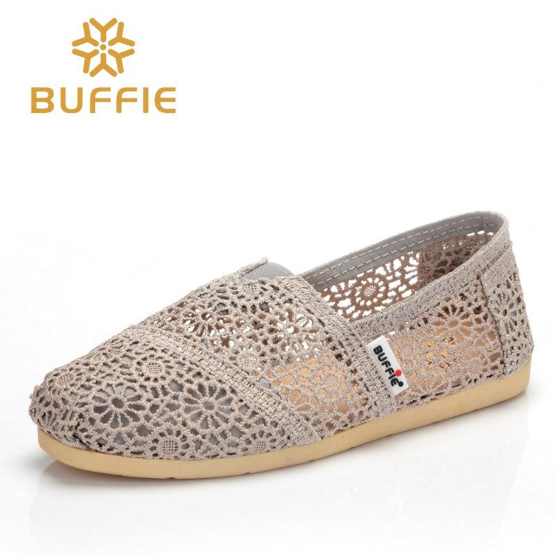 BUFFIE female slip on shoes women flat summer loafers breath