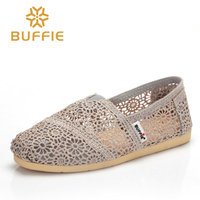 2017 Buffie Brand Fashion Women Slip On Flats Shoes Hollow Out Summer Lady Casual Shoes Spring
