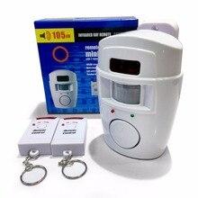 Беспроводной PIR/движения Сенсор сигнализации + 2 пульта дистанционного управления сигнализация 105db