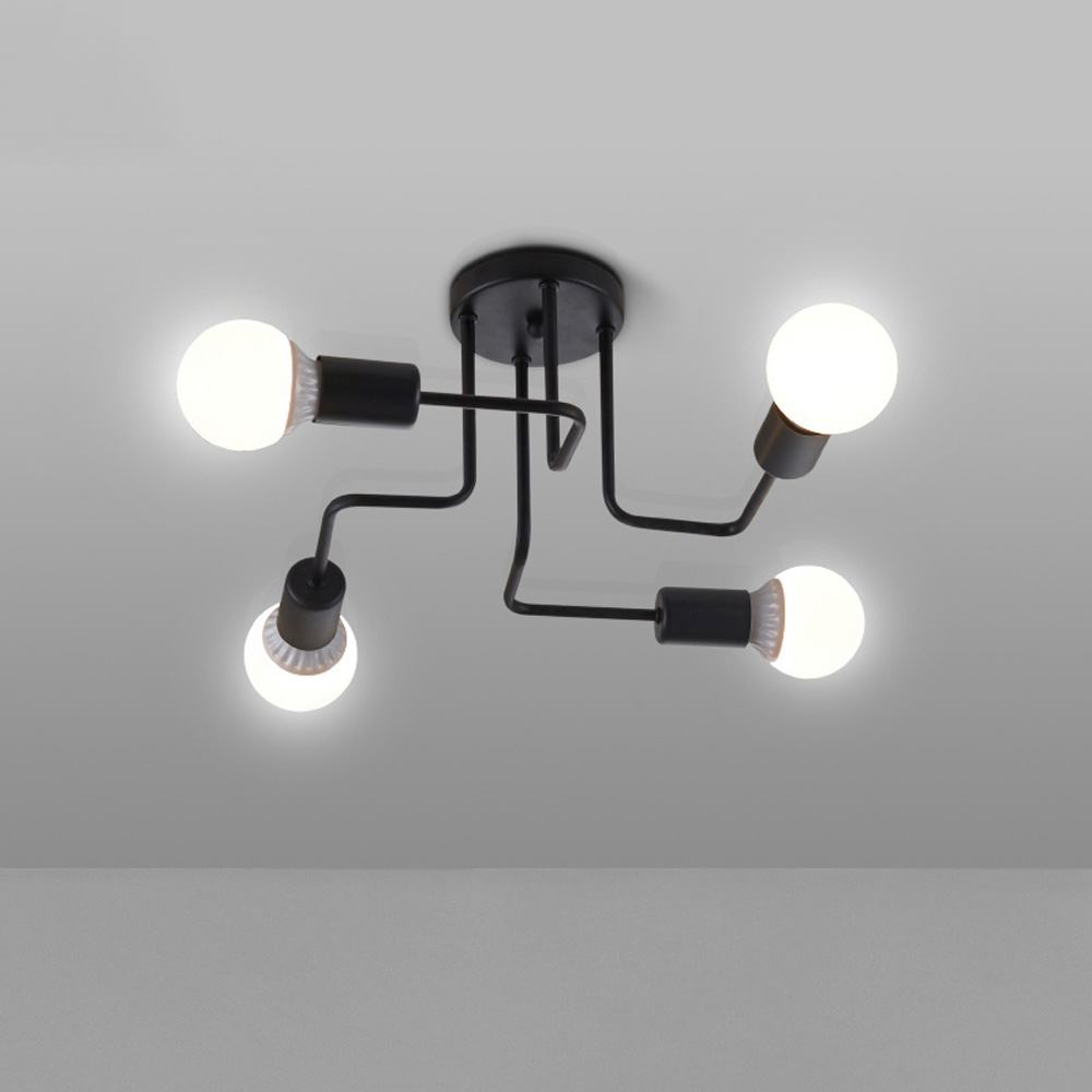 Luminaire Lighting Us 92 14 Vintage Ceiling Lights For Home Lighting Luminaire Multiple Rod Wrought Iron Ceiling Lamp E27 Bulb Living Room Lamparas De Techo In Ceiling