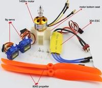 Fixing Wing Model Aircraft Parts Power Set XXD 1400KV 2450KV Brushless Motor 30A 40A ESC 9g
