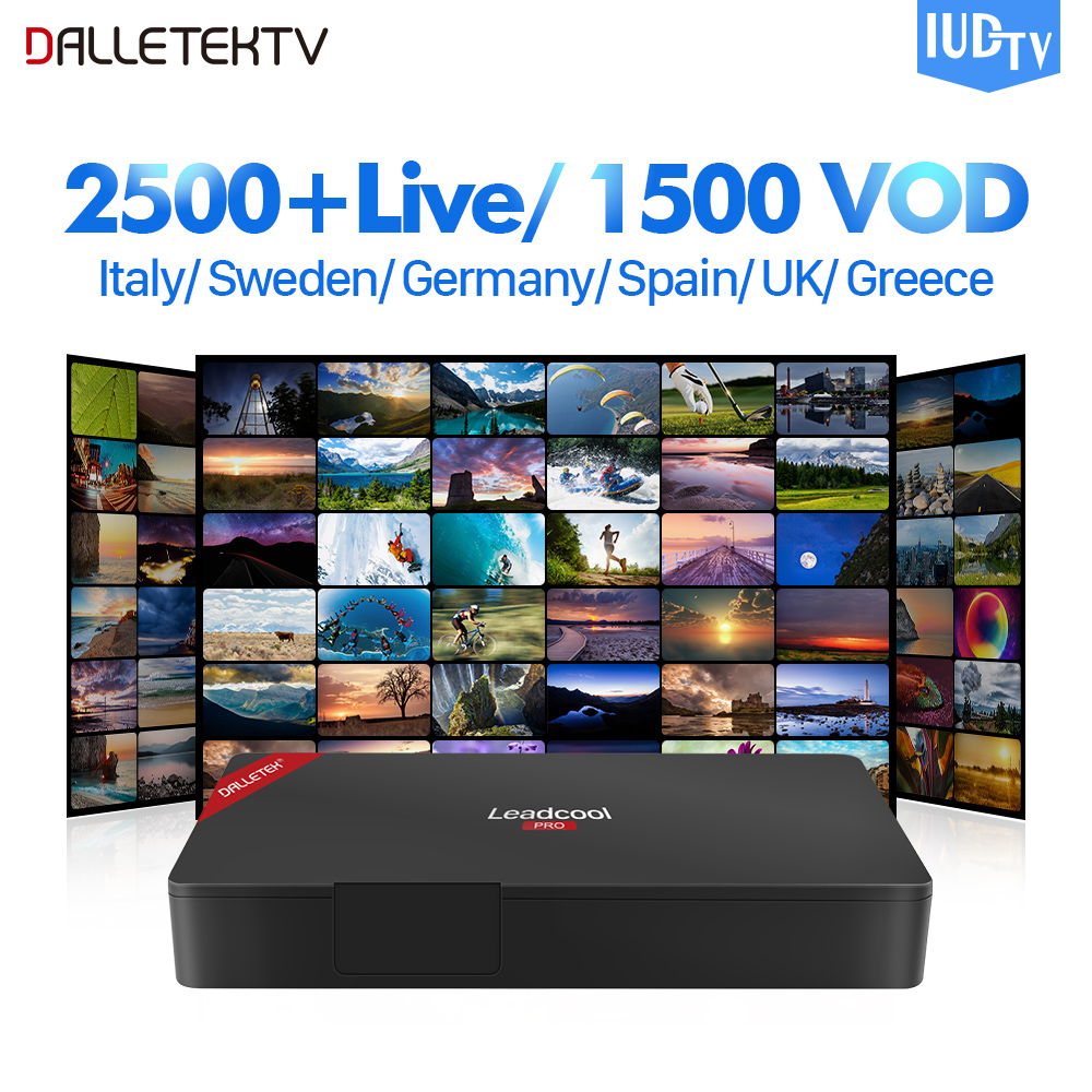 IPTV Sweden Box Leadcool Pro Android TV Receivers IUDTV 1 year IPTV Sweden Arabic Portugal Turkey Greece UK Germany Italy iptv sweden arabic box t95z plus android 7 1 tv receivers with iudtv iptv subscription iptv sweden arabic italy turkey portugal
