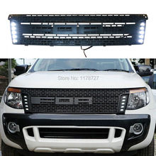 FREE SHIPING FOR 12 13 14 RANGER T6 FRONT RAPTOR BLACK LIT GRILLE GRILL XLT PX UTE WILDTRAK RANGER GRILL 2012-2015 HIGH QUALITY