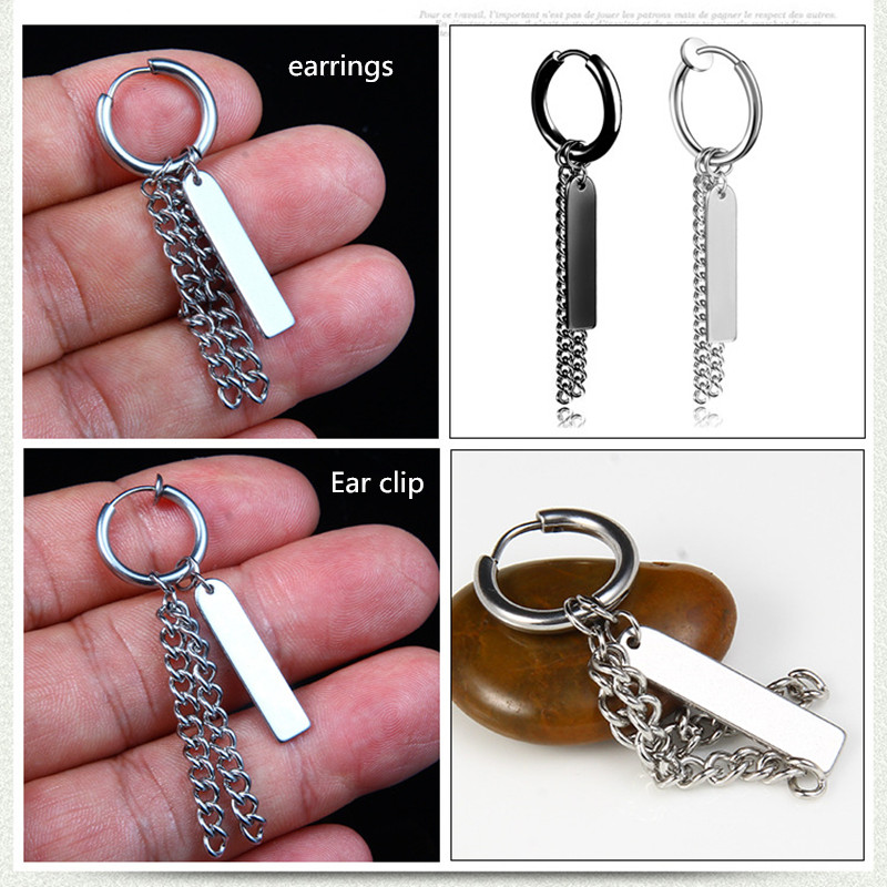 Bts Men Stainless Steel Fashion Pendant Earrings Guys Single Earring Jewellery Man Accessory Gif Eh8 My Name