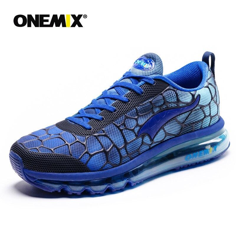 Onemix nouveaux hommes chaussures de course respirant en plein air athlétique marche baskets hommes sport chaussures de course grande taille 35-47 - 6