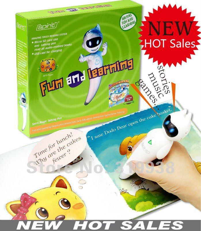 Free shipping 2012 reading pen educational innovative toys ...