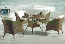 Rattan dining room chairs set in wicker materials