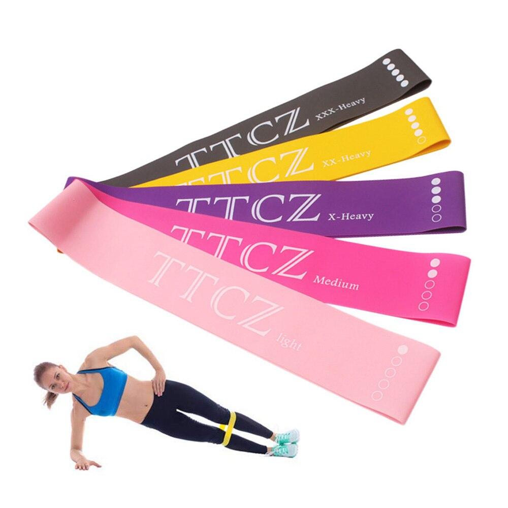 60 Cm Yoga Weerstand Elastiekjes Indoor Outdoor Fitnessapparatuur Pilates Sport Training Workout Elastiekjes 0.5mm-1.3mm Fijn Verwerkt