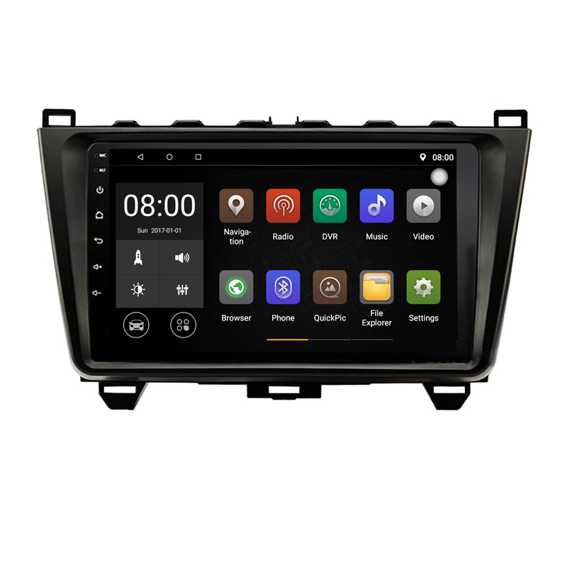 Quad Core Android 9.1 1G RAM Car Radio for <font><b>mazda</b></font> <font><b>6</b></font> 2008-2011 with <font><b>GPS</b></font> <font><b>Navigation</b></font> steering wheel Google map image
