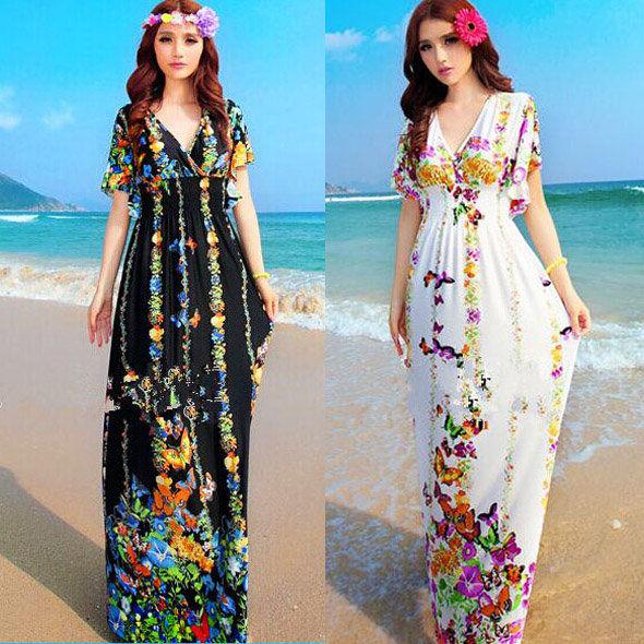 Como hacer vestidos hippies largos
