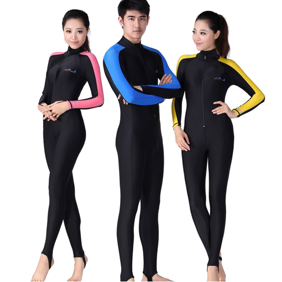 Free Shipping Conjoined long-sleeved Diving clothes prevented bask in jellyfish garment snorkeling bathing suit Swimming suit bask putorana hard