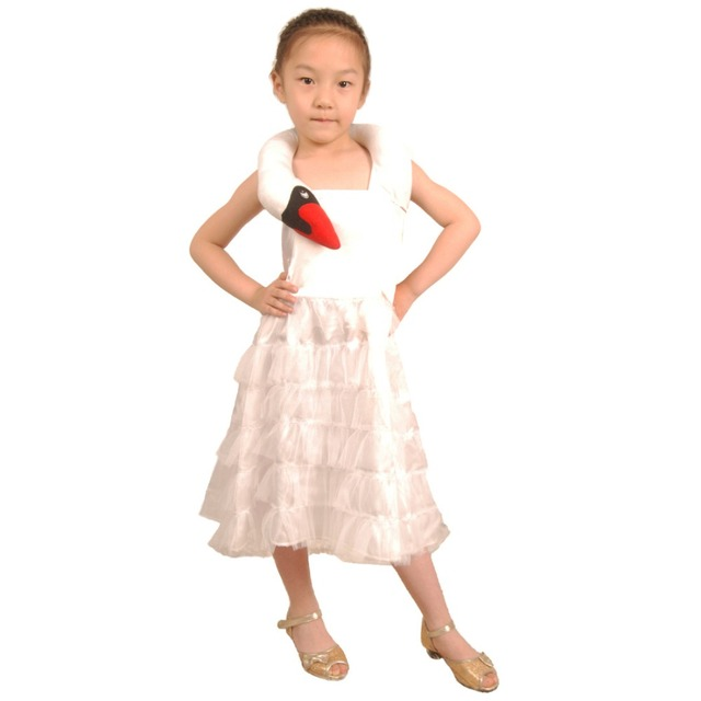 kids swan costume baby girl little girl white swan dress animal costume cosplay party halloween costumes
