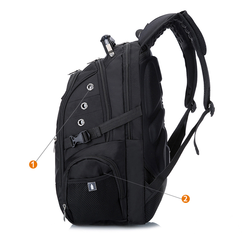 af6c3de90f3b MAGIC UNION Brand Design Men s Travel Bag Man Swiss Backpack Polyester Bags  Waterproof Anti Theft Backpack