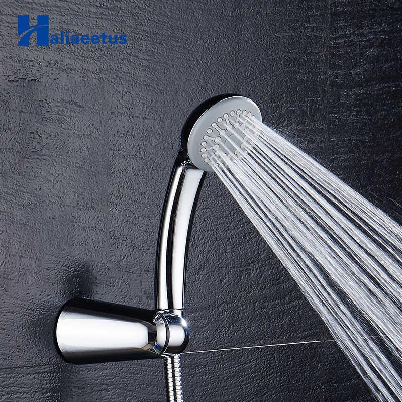 Oszczędzająca wodę słuchawka do prysznica ciśnienia doładowania żel krzemionkowy chrome deszczownica szef ABS otwory prysznic ręczny akcesoria łazienkowe