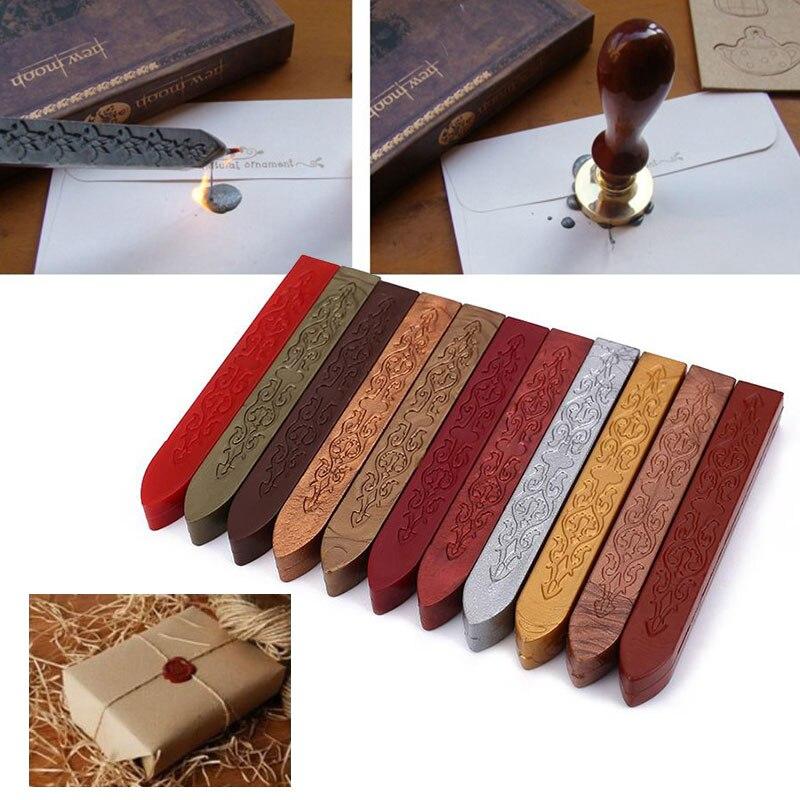 Ретро уплотнительная Восковая Палочка для штампы буквы уплотнение плавления свечи конверт пригласите