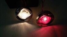 12 V 24 V łódź morska nawigacji Stern światła okrągłe ze stali nierdzewnej 8 W żarówka wolframowa lampa tylna czerwony/biały
