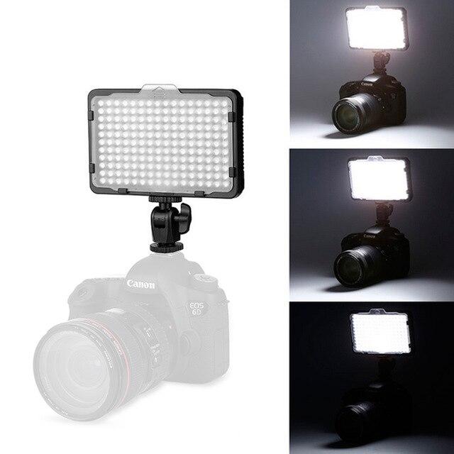 176 LED Camera video Light Photo Lighting on Camera Hot Shoe LED Lamp Studio photography for DSLR Camcorder Canon / Nikon