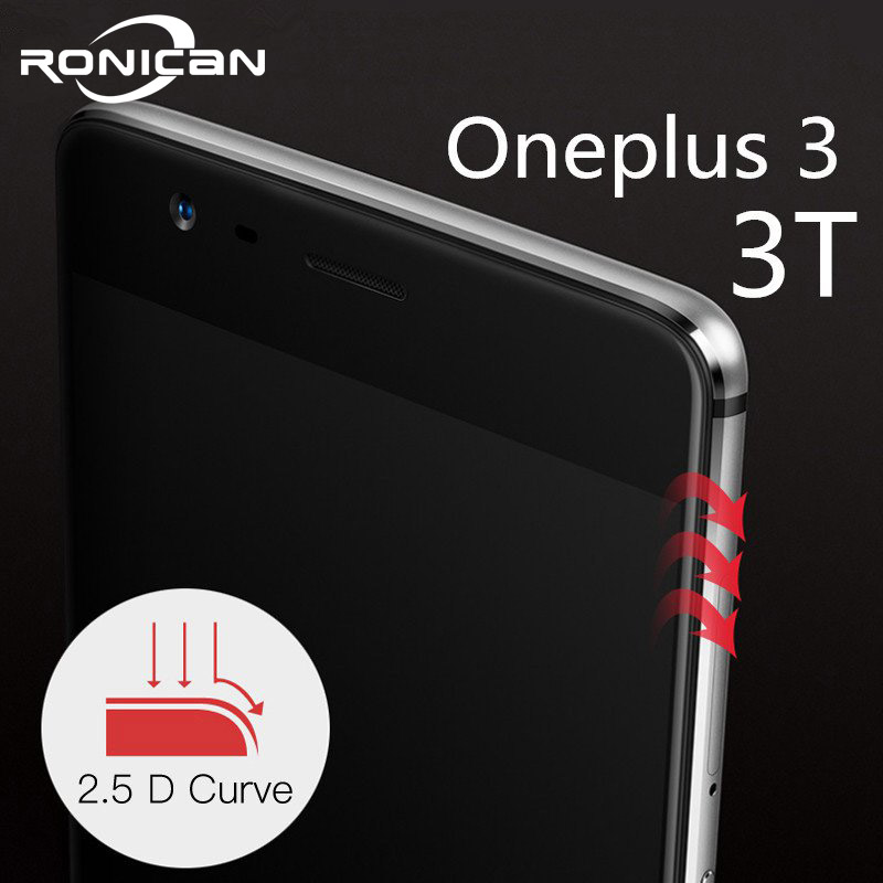 oneplus 3 tempered glass original oneplus 3T screen protector oneplus 3t glass full cover white black accessories 5.5 inch-in Phone Screen Protectors from Cellphones & Telecommunications