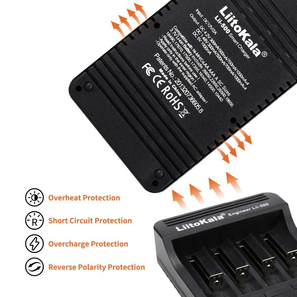 Liitokala lii-500 ЖК-дисплей 3.7 В 1.2 В 18650 26650 16340 14500 10440 18500 Батарея Зарядное устройство, 100% Оригинальные liitokala фабрики lii500
