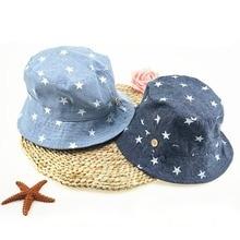 Мягкая хлопковая летняя детская Солнцезащитная шляпа для маленьких мальчиков и девочек, джинсовая хлопковая кепка для малышей