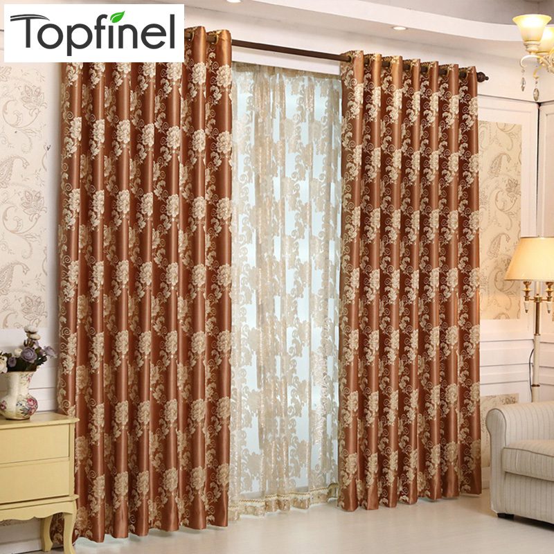 Top Finel 2016 Luxury Europe Jacquard Thick Blackout Curtains For Living Room The Bedroom Window Treatments