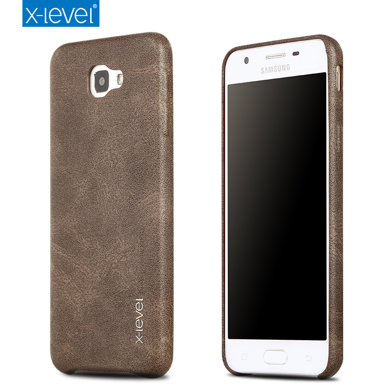 watch b3e22 804d3 US $7.49 25% OFF|X Level Luxury Retro PU Leather Case for Samsung Galaxy J5  Prime G570F Back Case Cover for Samsung On5 2016 G5700 Vintage Cases-in ...