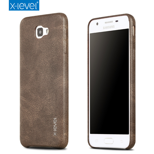 watch 91304 0d388 US $7.49 25% OFF|X Level Luxury Retro PU Leather Case for Samsung Galaxy J5  Prime G570F Back Case Cover for Samsung On5 2016 G5700 Vintage Cases-in ...