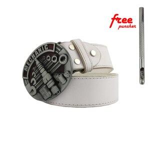 Buckles Hot Sale Mechanic Belt Buckle Head Brand New Western Metal Belt Buckle With Good Plating Suitable For 4cm Width Belt