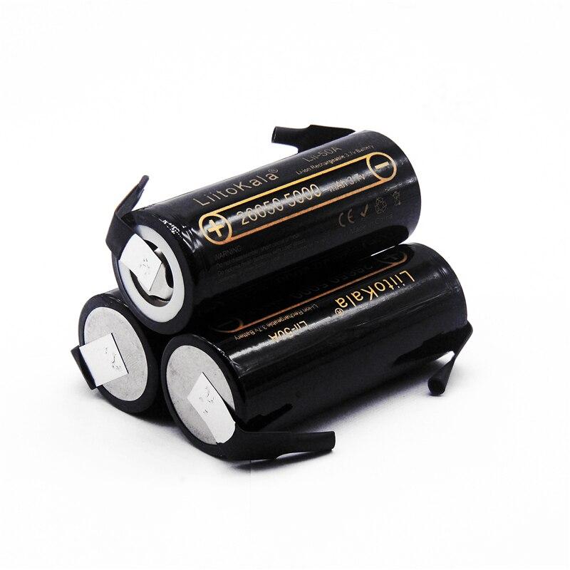 €4.36 25% СКИДКА|LiitoKala оригинальный lii 50A N 26650 литиевая батарея 3,7 V 5000mAh аккумуляторная батарея 26650 50A подходит для flashligh + DIY никель|Подзаряжаемые батареи| |  - AliExpress