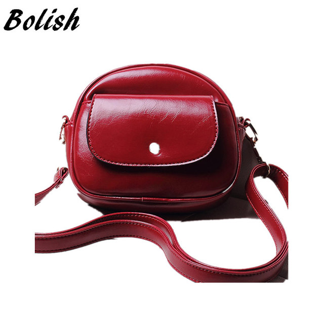 Brief PU Leather Women Bag Casual All-match Mini Mobile Phone Bag Small Women Cross-body Bag