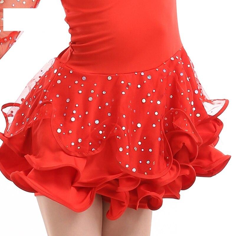 44657b7543b63 cha cha dance dress girl latin costumes child dans dresses for girls  competition samba salsa kids ballroom dresses for tango-in Latin from  Novelty & Special ...