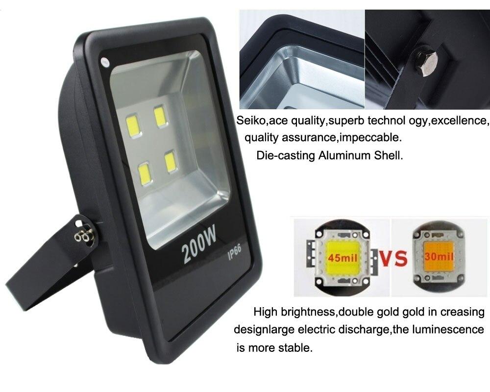 200w Led Focus Flood Light 220v Exterior Lighting Warm Natural Cold White Outdoor Lamp Ip65