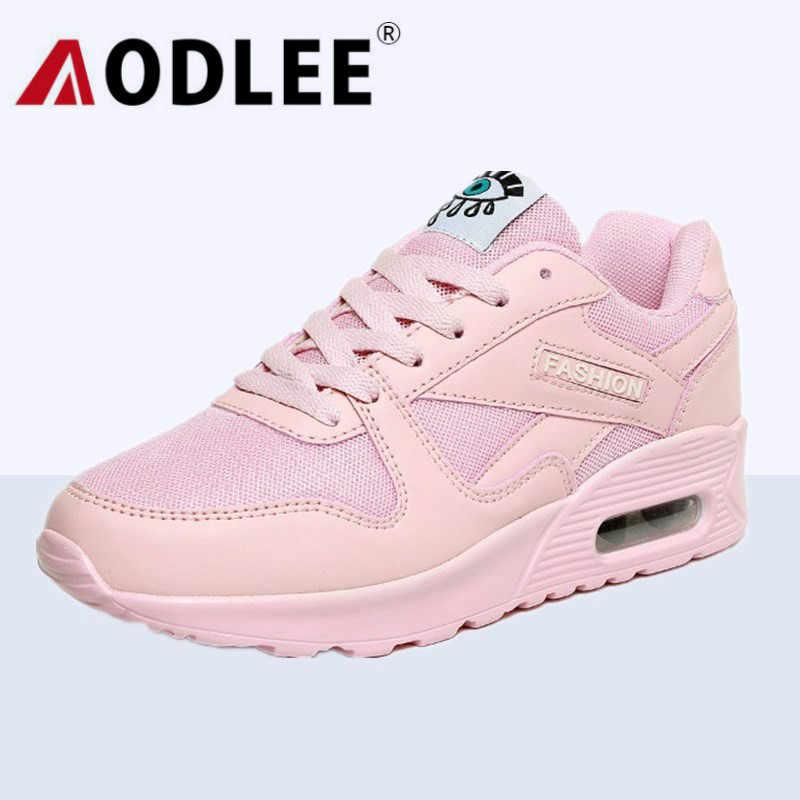 AODLEE Mode Turnschuhe Frauen Trainer Atmungsaktive Mesh Vulkanisieren Schuhe Frau Leder Casual Schuhe Frauen Wohnungen Zapatillas Mujer