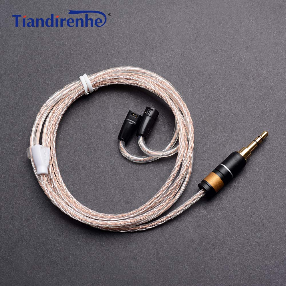 Upgrade Audio Cable for Sennheiser ie8 ie80 ie8i 8-core Monocrystalline Silver Copper Headphones Line Wire for iPhone xiaomi наушники sennheiser ie 4