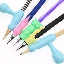 5 наборов Мягкая силиконовая ручка для детей ручной письмо от руки для дрессировки школьные канцелярские принадлежности